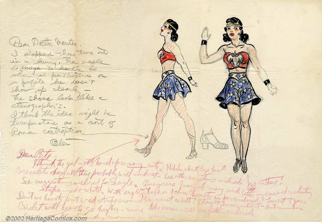 Original Wonder Woman concept art by H.G. Peter