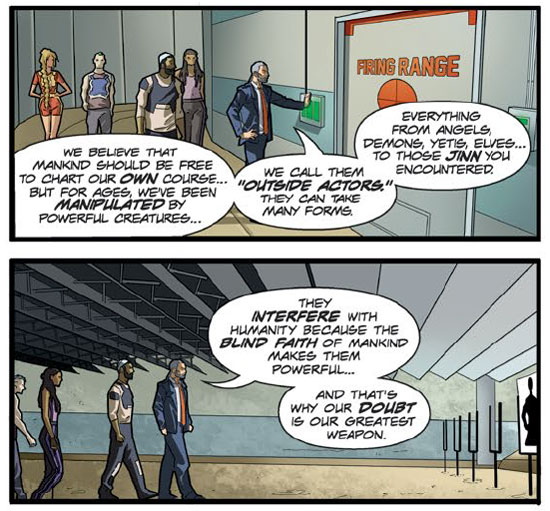 Interiors from issue #1, plus a bit of a mission statement!