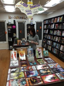 Fantom Comics features a table devoted to spotlighting female-led titles.