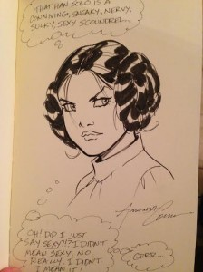 Princess Leia Sketch by Amanda Conner -Mara Wood Collection