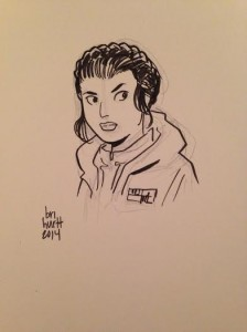 Princess Leia by Brian Hurtt  (From Mara Wood's  Collection)