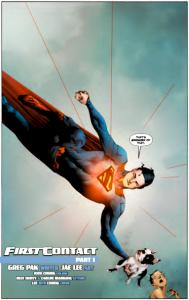 Superman saves a cute/ugly puppy. Sigh, lovin' this!