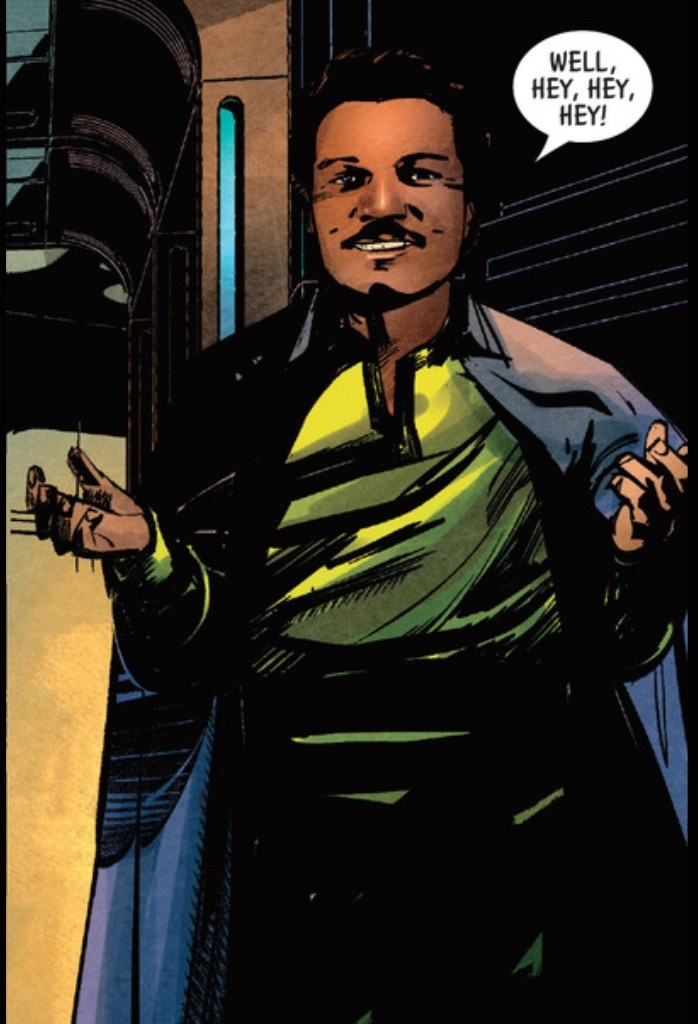 Lando's default mode is to flirt his way out of danger.