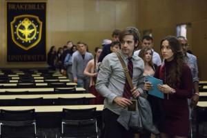 "THE MAGICIANS -- ""Unauthorized Magic"" -- Pictured: (l-r) Jason Ralph as Quentin, Stella Maeve as Julia -- (Photo by: Hilary Bronwyn Gayle/Syfy)"