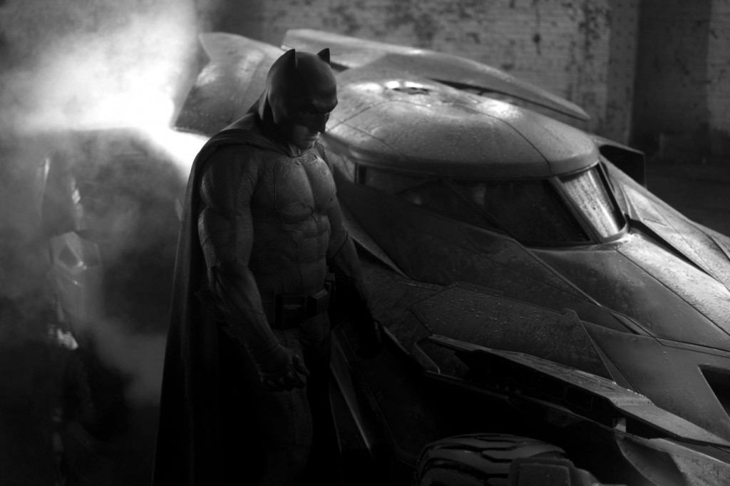 """Ben Affleck"" brooding as the newest Caped Crusader in ""Batman V Superman: Dawn of Justice (2016)"""