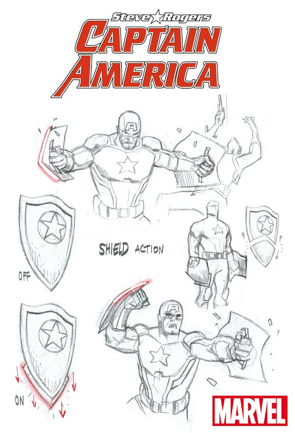 Concept Art for Steve's new shield