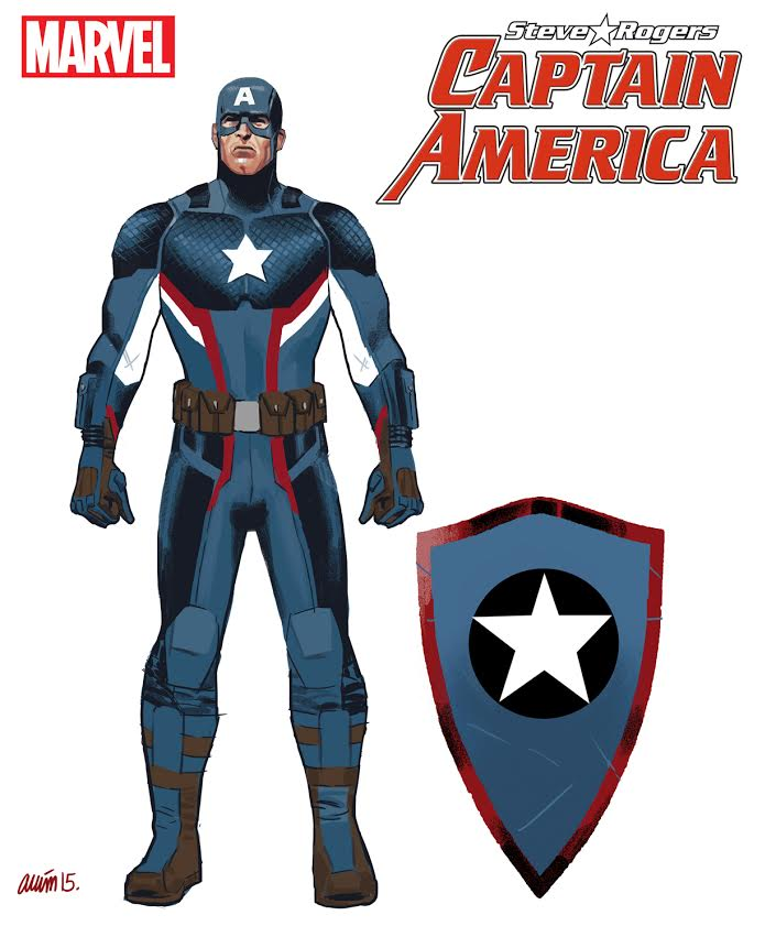 Jesus Saiz's concept art for Steve Rogers new look Captain America