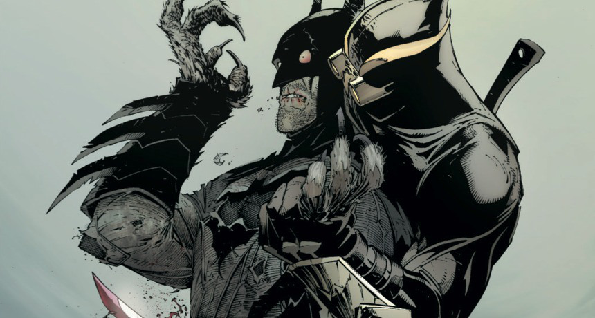 "Batman faces the Talon in ""Batman: The Court of Owls (2011)"""