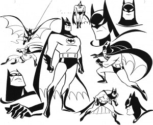 Some of Bruce Timm's original designs for Batman: The Animated Series