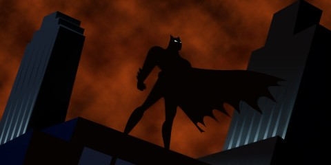 The now Iconic logo for Batman: The Animated Series