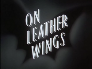 The Title card for On Leather Wings