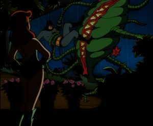 Batman battles Poison Ivy's strange Little shop of Horror influenced plants